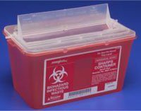(PT# 676236 PT# # 676236- Container Sharps Monoject Small Red 4qt Ea by, Kendall Company)