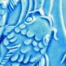 AMACO Lead Free Non Toxic Glaze & 1 Pint Plastic Jar - Turquoise Crackle Lg-27