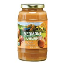 Vermont Village Organic Peach Applesauce, 24 Ounce - 6 per case. made in Vermont