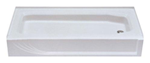 Kinro Composites W-5428 LH-SPK White 28X54 Left Shower Pan (54 Shower Pan)