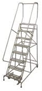 product image for Cotterman 1508R2632A1E10B4W5C1P6 - Rolling Ladder Steel 110In. H. Gray