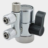 Two way 1/4'' Brass Diverter Valve Chrome for Water Filters Water Prufiers and More by Realgoal