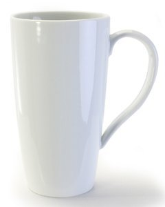 BIA Cordon Bleu White Porcelain 17 ounce Latte Mug - Set of - Safe Cordon Bia Dishwasher Mug Bleu
