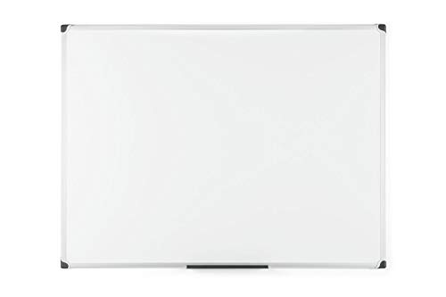 Bi-Office Maya W - Pizarra blanca magnética con marco de aluminio, 120 x 90 cm