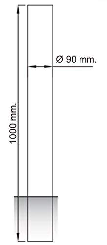 Pilona de acero inoxidable fija para empotrar bolardo fijo acero inoxidable /Ø90 y 1000 mm de alto 1- Pilona