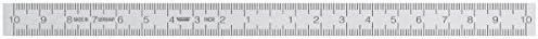 Rostfreier Stahlmassstab 0-Punkt mittig 200 mm 13x0,5mm