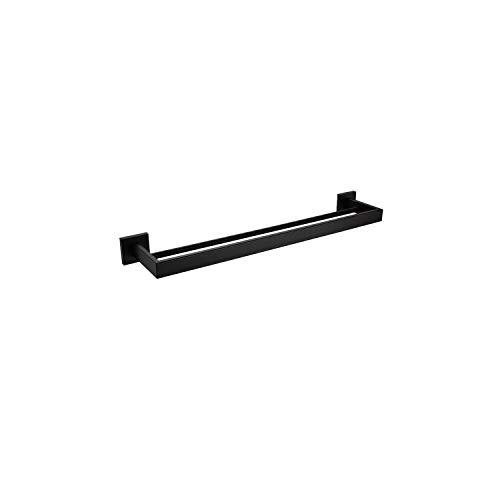 Bathroom Hardware Set Robe Hook Towel Rail Rack Bathroom Accessories,Double Towel Bar ()