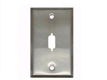 Hd15/Db9 D-sub Wall Plate - Stainless Steel
