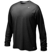 Nike Men's Legend Long Sleeve Tee, Black, L