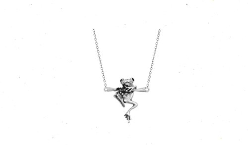 3D Baby Frog in Tree Branch necklace ()