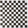 Dry Waxed Deli Paper Sheets - Paper Liners for Plasic Food Basket (100, Black Checkered)