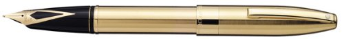 (Sheaffer Legacy Heritage Fountain pen (Fine Nib), 18k Gold Nib and 22k Brushhed Gold body. It comes with an Ink converter and also with two cartridges.)