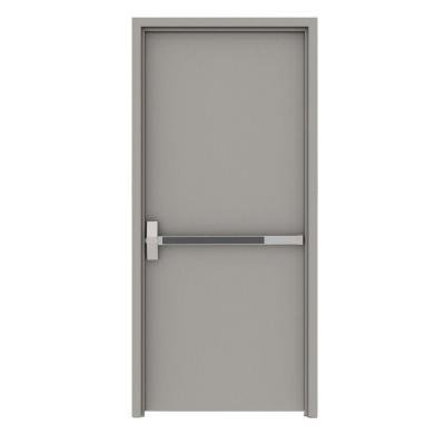 Flush Gray Exit Right-Hand Fire Proof Door Unit with Welded Frame