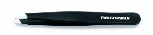 Tweezerman Stainless Steel Slant Tweezer, Black