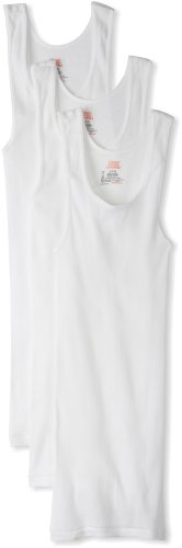 - Hanes Ultimate Men's 3-Pack Tagless Tank, White, Medium