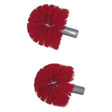 Unger Professional Products - Brush Replacement Heads, 2/PK, Red - Sold as 1 PK - Replacement brush heads are designed for use with Unger Ergo Toilet Bowl Brush system. Brush heads allow workers to effectively clean bowl and urinal without bending close to the surface.