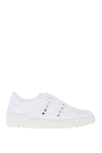 Valentino Garavani Donna Sneakers In Pelle Bianca Pw2s0a01bhs0bo