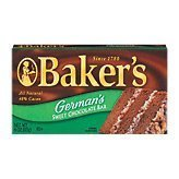 - Kraft Baking & Canning Baker's Chocolate Bar German's Sweet 4-oz