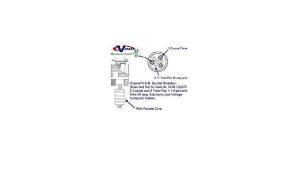 With Ferrite Core 1.8M Male//Male VasterCable SVGA//VGA Monitor Cable