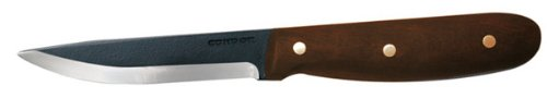 Condor Tool and Knife Sapien 4-Inch Straight Blade, Walnut Handle, Black Leather Sheath, Outdoor Stuffs