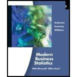 Read Online Modern Business Statistics with Microsoft Excel by Anderson,David R.; Sweeney,Dennis J.; Williams,Thomas A.. [2011,4th Edition.] Hardcover pdf epub