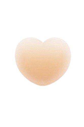 Sujetador push-up de mujeres palo del uno mismo vestido Backless cubre (2 pares) heart D