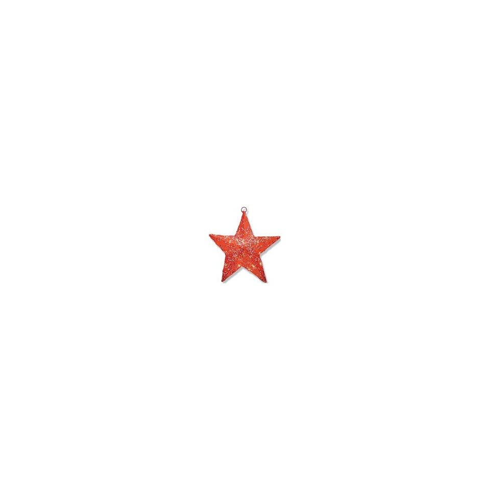 14 Red Sisal Star Solid Center with 10 Clear Indoor / Outdoor Lights
