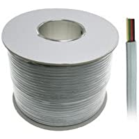 1000ft 4-Conductor Bulk Phone Cable, 26AWG, Silver Satin, UL Rated - Distributed by NAC Wire and Cables