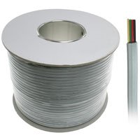 1000ft 4-Conductor Bulk Phone Cable, 28AWG, Silver Satin ...