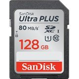 San Disk Ultra Plus SDHC UHS - I Card 128 GB Speed up to 80 MB/s 533x by SanDisk