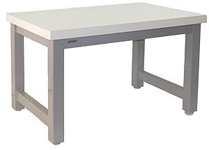 BenchPro Extreme Heavy Duty Steel Work Bench with Blue Paint and White Laminate Top, 20000 lbs Capacity, 72
