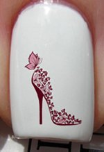 Amazon pink stiletto heels shoes designs nail art stickers pink stiletto heels shoes designs nail art stickers decals decorations by vaga prinsesfo Images
