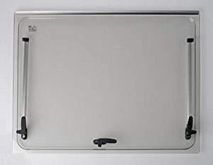 Vetro di ricambio 1418x534 per finestra camper Seitz 1450x600 - colore Grigio - compresi accessori