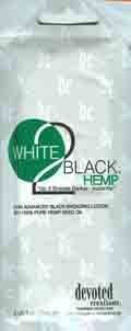 5 White 2 Black with Hemp Tanning Lotion Packets