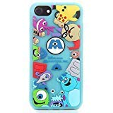 Monsters Case for iPhone SE 5 5S 5C,3D Cartoon Animal Character Design Cute Soft Silicone Rubber Funny Cover,Animated Fashion Cool Skin for Kids Boys Child Teens Girls(iPhone 5)