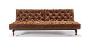Oldschool Chesterfield Sofa Bed Vintage Black