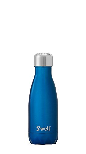 S'well Vacuum Insulated Stainless Steel Water Bottle, 9 oz, Ocean Blue ()