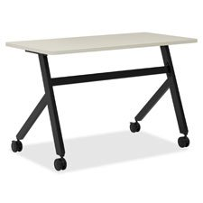 HON Assemble Fixed Base Multi-Purpose Table, 72-Inch, Light Gray/Black (Worksurface Light)