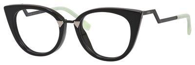 FENDI Eyeglasses 0119 0AQM Black - Glasses Fendi