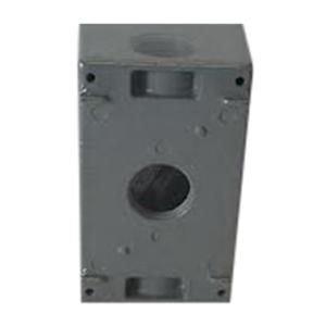 Orbit Industries 1DB75-3 Powder Coated Die Cast Copper Free Aluminum 1-Gang Weatherproof Outlet Box 2-3/4 Inch x 4-1/2 Inch x 2-5/8 Inch 23.8 - Orbit 3