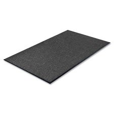 Series Walk Off Indoor Mat - Genuine Joe Indoor Mat with Moisture Absorbent, Vinyl Back, 3 by 5-Feet, Charcoal