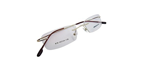 Gold Memory Hingeless Rimless Flexible Eyeglass Frame 8 Colors Spectacles Eyewear - Eyeglasses Hingeless