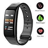 Fitness Tracker, Fitness WatchActivity Tracker with Heart Rate Monitor, IP67 Waterproof Color Screen Wristband with Calorie Counter Pedometer Sleep Blood Pressure/Oxygen Monitor for Kids Women Men