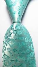 jacob alex #38113 Classic Necktie Floral Baby Blue JACQUARD WOVEN 100% Silk Men's (Infant Nascar Halloween Costume)