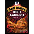 McCormick Marinade Tomato Garlic & Basil 0.87 OZ (Pack of 24)