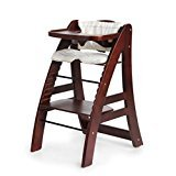 Image of Hot Sale! Sepnine Designed Wooden Baby Highchair with 5 point harness 6511 Dark Cherry (Dark Cherry)