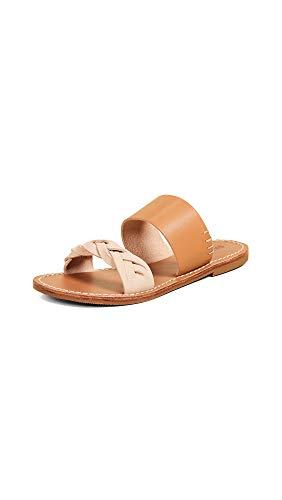 Soludos Women's Braided Slide Sandals, Acorn Brown, 5.5 M US