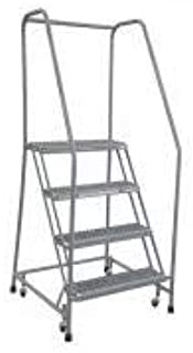 product image for Cotterman 1504R3232A1E10B3C1P6 - Rolling Ladder Steel 70In. H. Gray