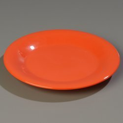 Rim Wide Carlisle Plates (Carlisle (3301052) Sierrus Wide Rim Dinner Plates, Set of 12 (10 1/2-Inch Diameter, Melamine, Sunset Orange, NSF))
