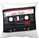 Mix Tape Throw Pillow Case